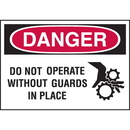 Seton 96292 High Performance SetonUltraTuff? Polyester Labels - Do Not Operate Without Guards In Place