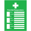 Seton 96437 First Aid Responders Emergency Frame With Photo Inserts