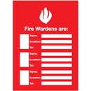 Seton 96445 Fire Wardens Emergency Frame With Photo Inserts