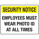 Seton Badge And ID Signs-  Employees Must Wear ID