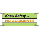 Seton 97512 Know Safety No Accidents Safety Slogan Banners