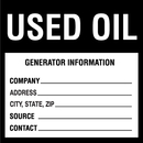 Seton 97717 Hazwaste & Drum Labels-On-A-Roll - Used Oil
