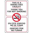 "Seton This is A Smoke-Free Facility - 7""W x 10""H Bilingual Interior Sign - 97800"