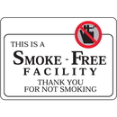 "Seton 97805 This Is A Smoke-Free Facility - 7""W x 5""H Interior Signs w/Graphic"