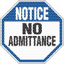 Seton 97936 See Thru Security Labels - Notice No Admittance