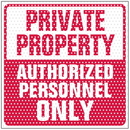 Seton See Thru Security Labels - Private Property - 97939