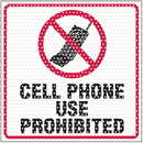 Seton 97946 See Thru Security Labels - Cell Phone Use Prohibited