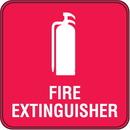 Seton 98151 Interior Decor Fire Safety Signs - Fire Extinguisher