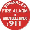 Seton 98181 Brooks Sprinkler Fire Alarm When Bell Rings Dial 911 Alarm Sign RP251