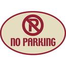 Seton Designer Oval Signs - No Parking