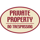 Seton Designer Oval Signs -Private Property No Trespassing