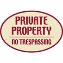 Seton Designer Oval Signs -Private Property No Trespassing