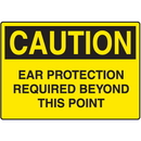 Seton 99708 OSHA Caution Signs For Rough And Curved Surfaces