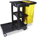 Rubber AA100 Rubbermaid Rubbermaid Multi-Shelf Cleaning Cart 617388BK