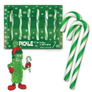 Accoutrements Pickle Flavored Candy Canes Box Of 6