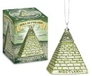 Accoutrements ACC-12731-C All Seeing Eye Dollar Pyramid Glass Holiday Ornament