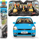 Accoutrements ACC-12857-C Car Full of Rubber Chickens Auto Sunshade