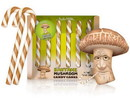 Accoutrements ACC-12933-C Shitake Mushroom Candy Canes, 6 Piece Gift Set