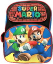 Accessory Innovations AIC-19906-C Super Mario 12 Inch Kids Backpack with Printed Straps