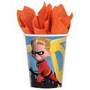 Amscan Diney/Pixar Incredibles 2 9oz Paper Party Cups, 8-Pack