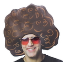 Angels Costumes Giant Brown Foam Afro Adult Costume Hat