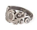 BBC Doctor Who Logo Vine Stainless Steel Women's Ring, Size 7