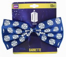 BBC BBC-DWHOSR2BTLG-C Doctor Who Seal of Rassilon Hair Bow Clip, Navy Blue