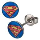 Body Vibe DC Comics Superman Logo Stainless 8mm Stud Earrings