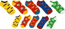 Bioworld DC Comics Superhero Logo Ankle Socks 5 Pair Pack One Size Fits Most