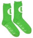 Bioworld BIW-CR5KQHSMB-C Super Mario Bros. Green Luigi Logo Cozy Adult Crew Socks