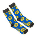 Bioworld Fallout Collectibles - Blue & Yellow Crew Socks - BIOWORLD Fallout collection