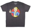 Bioworld BIW-TS1M9PFOT15 Fallout Vault Boy Men's Charcoal Heather T-Shirt