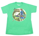 Bioworld Legend of Zelda: Breath of the Wild Link with Bow Green Youth T-Shirt