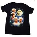 Bioworld Golden Girls Super Vintage Moon Men's Navy T-Shirt