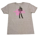 Bioworld Disney Hannah Montana Hot Pink Logo Grey T-Shirt