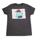 Bioworld Phineas and Ferb Perry Platypus Adult Grey T-Shirt