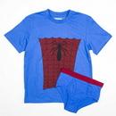 Bioworld BIW-ZE25FSS Marvel Spider-Man Boy's Shirt/Underwear Underoos Set