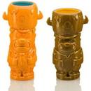 Geeki Tikis The Flintstones Mug Set, Fred & Barney Tiki Mugs, Holds 28 Ounces