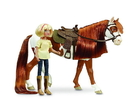 Breyer Animal Creations BYR-9204-C Spirit Riding Free 1:12 Classics Model Horse Set: Boomerang & Abigail