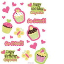 Creative Converting Happy Birthday Round Foil Balloon Sweet Treats