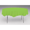 Creative Converting Touch Of Color Octy-Round Round Plastic Table Cover Fresh Lime