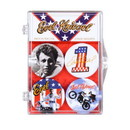A Crowded Coop Evel Knievel Badges of Pride Magnet 4-Pack
