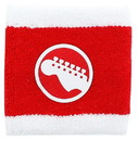 A Crowded Coop CRC-SCTPLGWHT-C Scott Pilgrim Red & White Guitar Athletic Wristband