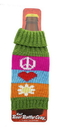 A Crowded Coop Knit Beer Bottle Cozy - Funky Floral