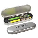 Crowded Coop CRC-STOL214-C Star Trek Floating Pen Set: Swashbuckling Sulu & Kirk vs Gorn