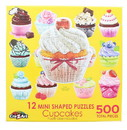 Cupcakes I 12 Mini Shaped Jigsaw Puzzles 500 Color Coded Pieces