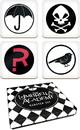 Dark Horse Comics DHC-3004-532-C Umbrella Academy Logos 4 Piece Drink Coaster Set