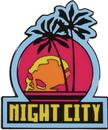 Cyberpunk 2077 Night City Logo 2 Inch Enamel Magnet
