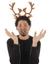 Elope Holiday Reindeer Antlers Costume Headband One Size