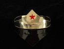 Elope Wonder Gold & Red Star Adjustable Costume Crown Adult One Size